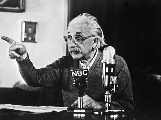 German-born Swiss-US physicist Albert Ei
