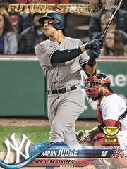Topps card featuring Aaron Judge