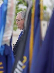 Mayor Mike Vandersteen speaks during the Memorial Day