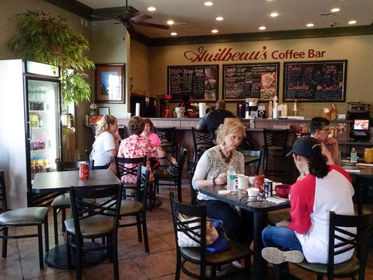 The coffe shop at GuilbeauxPharmacy in Carencro Friday,