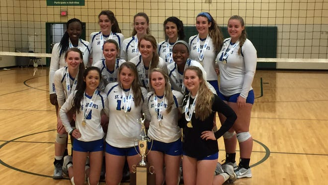 The St. Joseph's volleyball team defeated Academic Magnet to capture its sixth straight state championship