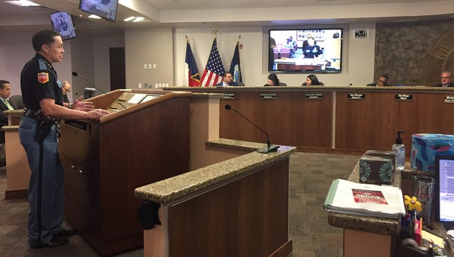 El Paso Police Chief Greg Allen talks to City Council about the First Chance Program Tuesday Nov. 28, 2017.
