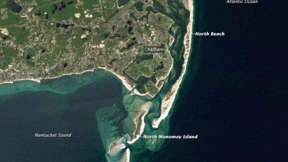 Cape Cod's elbow on June 12, 1984 (Source: NASA)