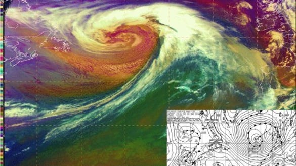 A powerful extratropical storm on Jan. 4, 2014 (Source: Ocean Prediction Center)