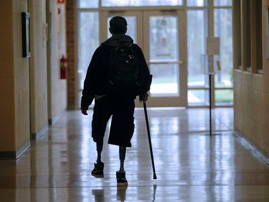 Julio Rivera leaves the Oak Creek campus of MATC after