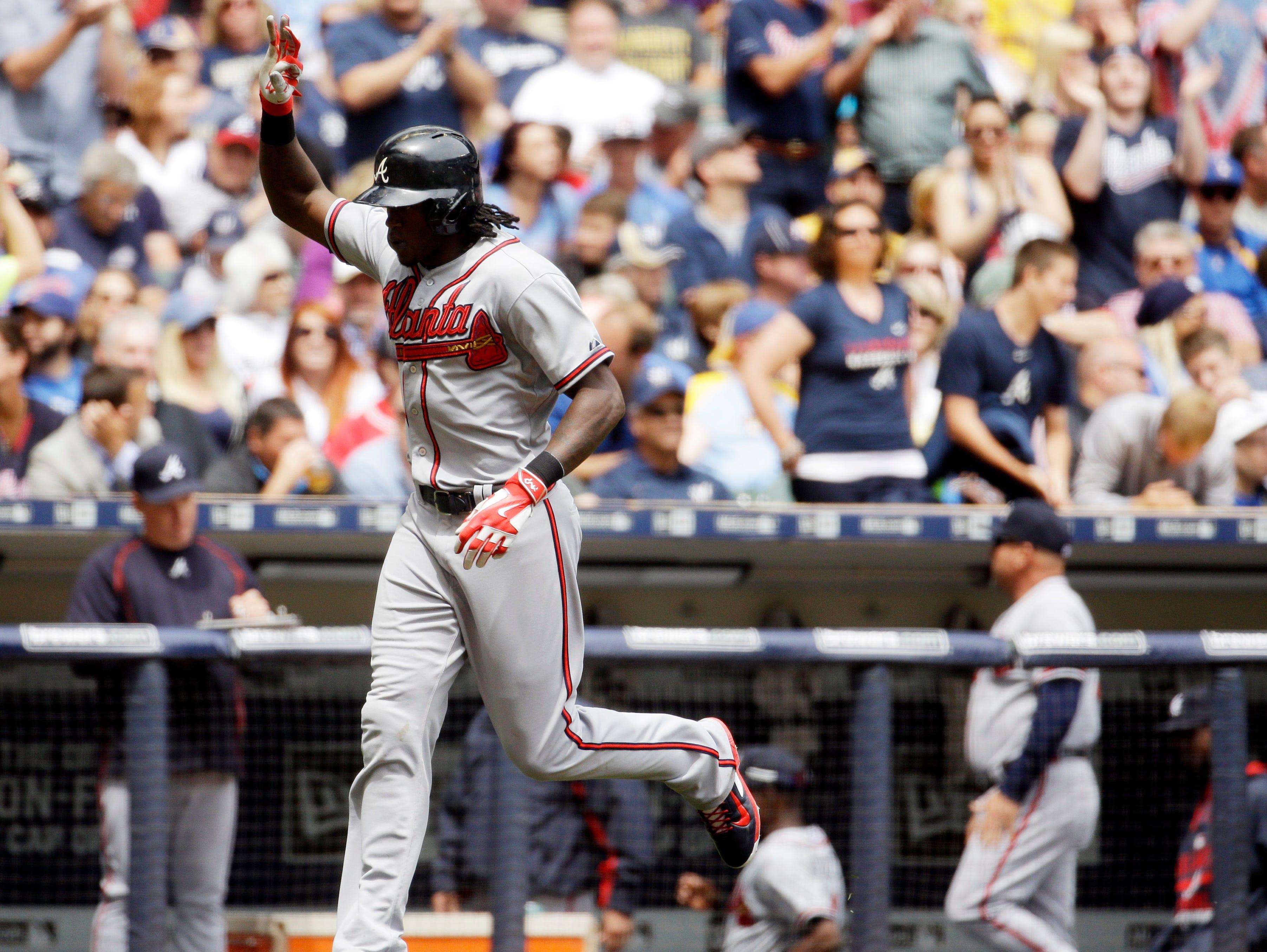 Roberson graduate Cameron Maybin hit his eighth home run of the season Wednesday in Milwaukee.