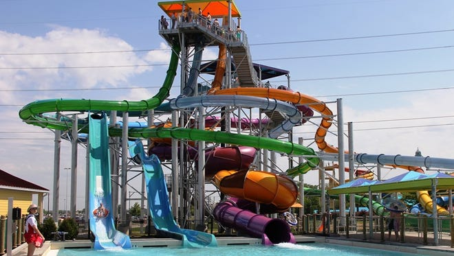 Kings Island is opening their new seven-story water slide complex this weekend: Tropical Plunge.