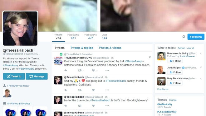 Twitter accounts have been created in the names of Teresa Halbach and Brendan Dassey.
