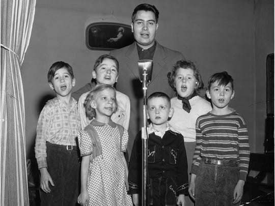 Inter-denominational broadcast was part of the Rev. Jim Jones youth program at Somerset Methodist Church in 1953.. 22-year-old Jones was working part-time for the church.