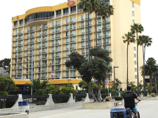 The Crowne Plaza Ventura Beach Hotel in Ventura.
