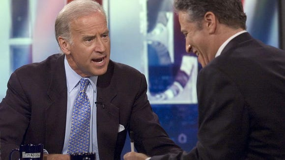 "Joe Biden on ""The Daily Show"" in 2005."