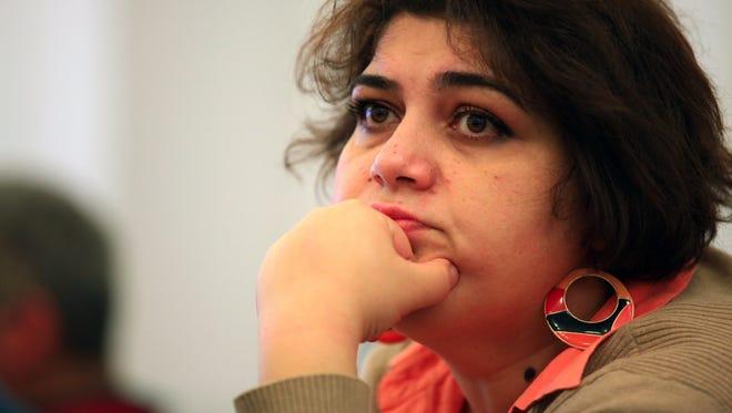 Azerbaijani Khadija Ismayilova, a reporter for Radio Free Europe/Radio Liberty, in Baku, Azerbaijan.
