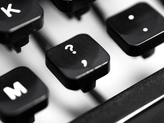 Macro image of manual typewriter keys