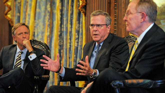 In March 2014 former Florida Gov. Jeb Bush visisted with Sen. Lamar Alexander and Gov. Bill Haslam in Nashville. He's one of a slew of possible Republican presidential nominees who've visited or plan to visit the state in recent months.