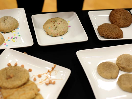 Cookies wait to be taste tested at Leslie Middle School in Salem on Wednesday, May 6, 2015. Otis Spunkmeyer representatives judged the cookies created and baked by the middle school students. The winning recipe will be made into regulation company cookie dough and sent to the school for baking.