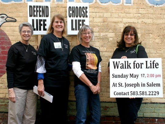 From left, Kathi Van Liew, Cheri Crocker, Molly Westbrook and Deborah Martinmaas are looking for people to join them in their Walk for Life on Sunday, May 17.