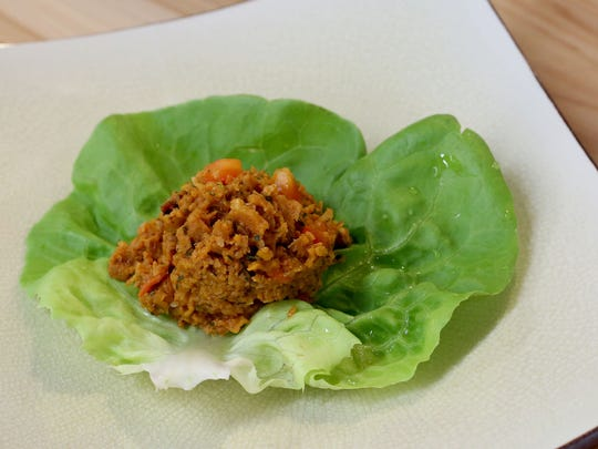 Vegetarian Thai larb was prepared at the Statesman Journal Taste of Oregon cooking demonstration on gluten-free Asian basics at Natural Grocers in Salem on Friday, May 8, 2015.
