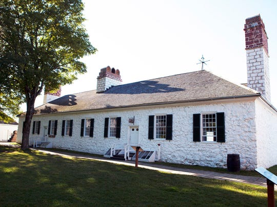 The oldest public building in Michigan is at Ft. Mackinac. It was used as housing for officers during the Revolutionary War.