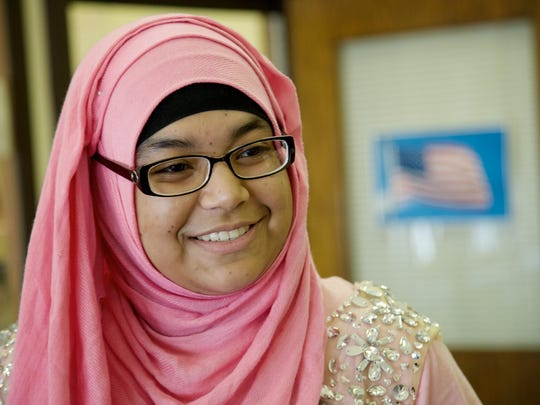 Nadia Malik, 18, of Detroit bought her dress online.