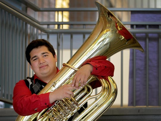 Juan Valdez, the 2015 state champion tuba soloist, graduated from West Salem High School this week. Valdez chose to remain in Oregon to pursue music when his parents had to move back to Mexico four years ago.
