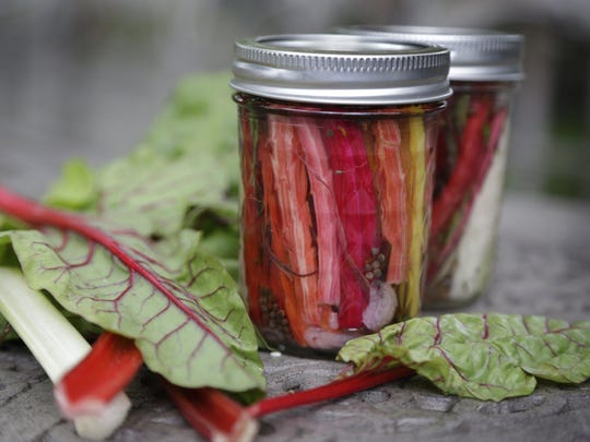 Pickled swiss chard stems. Eat the more than the leaves of greens. Mandi Wright/Detroit Free Press