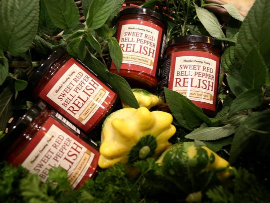 Sweet red bell pepper relish by Claudia Huntsinger is sold in several local stores.