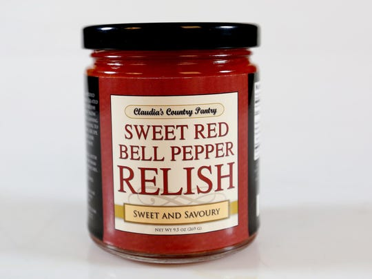 Sweet red bell pepper relish is sold at several local stores.