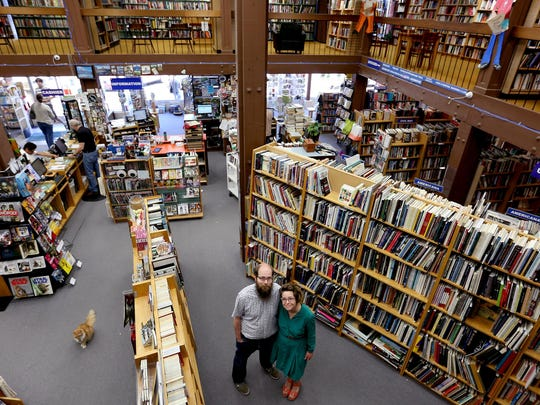 Obadiah and Kat Baird, the managers of Book Bin, the downtown Salem location. Photographed on Thursday, July 2, 2015.