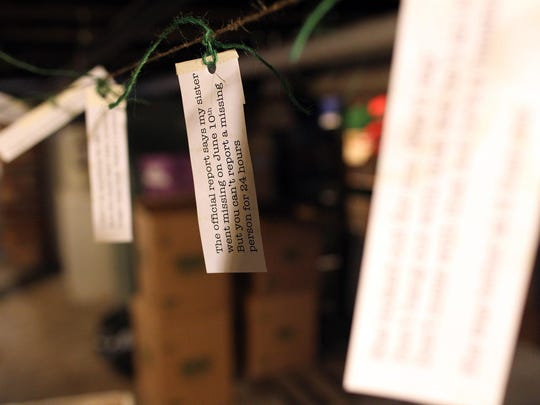 """Props line the basement of the Englert Theatre on Tuesday, July 21, 2015 in preparation for """"Ghost Story"""". The interactive play will allow audience members to tour areas of the Englert and immerse themselves into the story."""