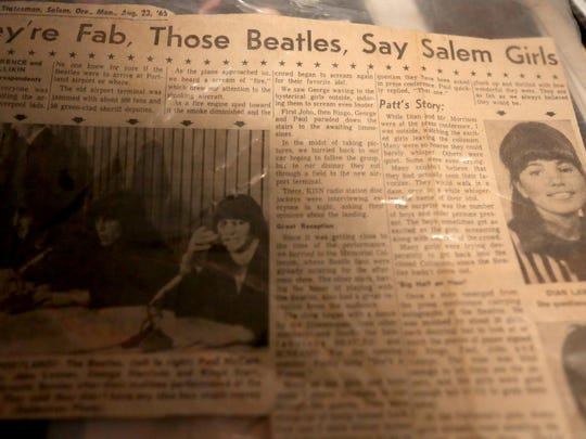 An article from The Oregon Statesman written by Dian Lawrence and a friend after attending The Beatles concert 50 years ago in Portland.