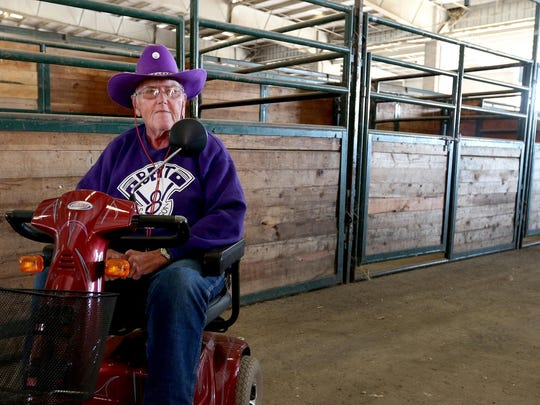 Ray Hughes, 80, has been to every Oregon State Fair since he was 3 months old in 1935. Photographed at the Oregon State Fairgrounds in Salem on Wednesday, Aug. 12, 2015.