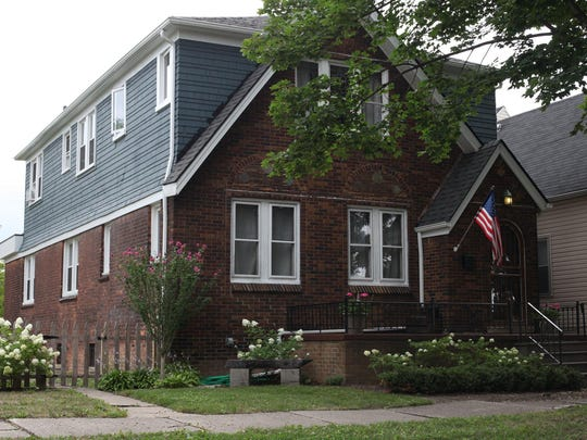 This duplex in the 4000 block of North Campbell was Nicole Curtis' first Detroit home rehabilitation.
