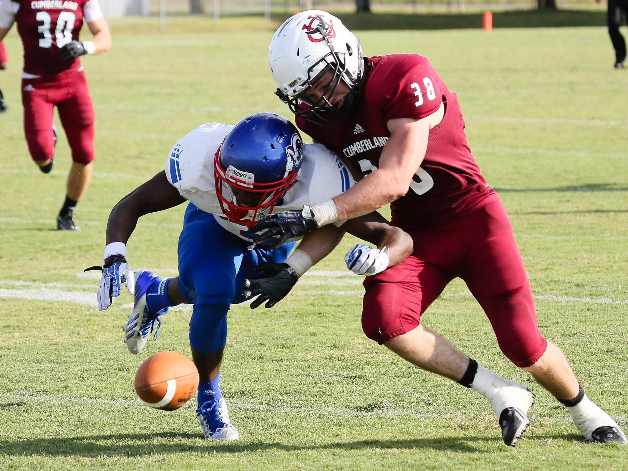 Cumberland's Nathan Jernigan has received the Tennessee Sports Writers Association's Defensive Football Player of the Week twice this season.