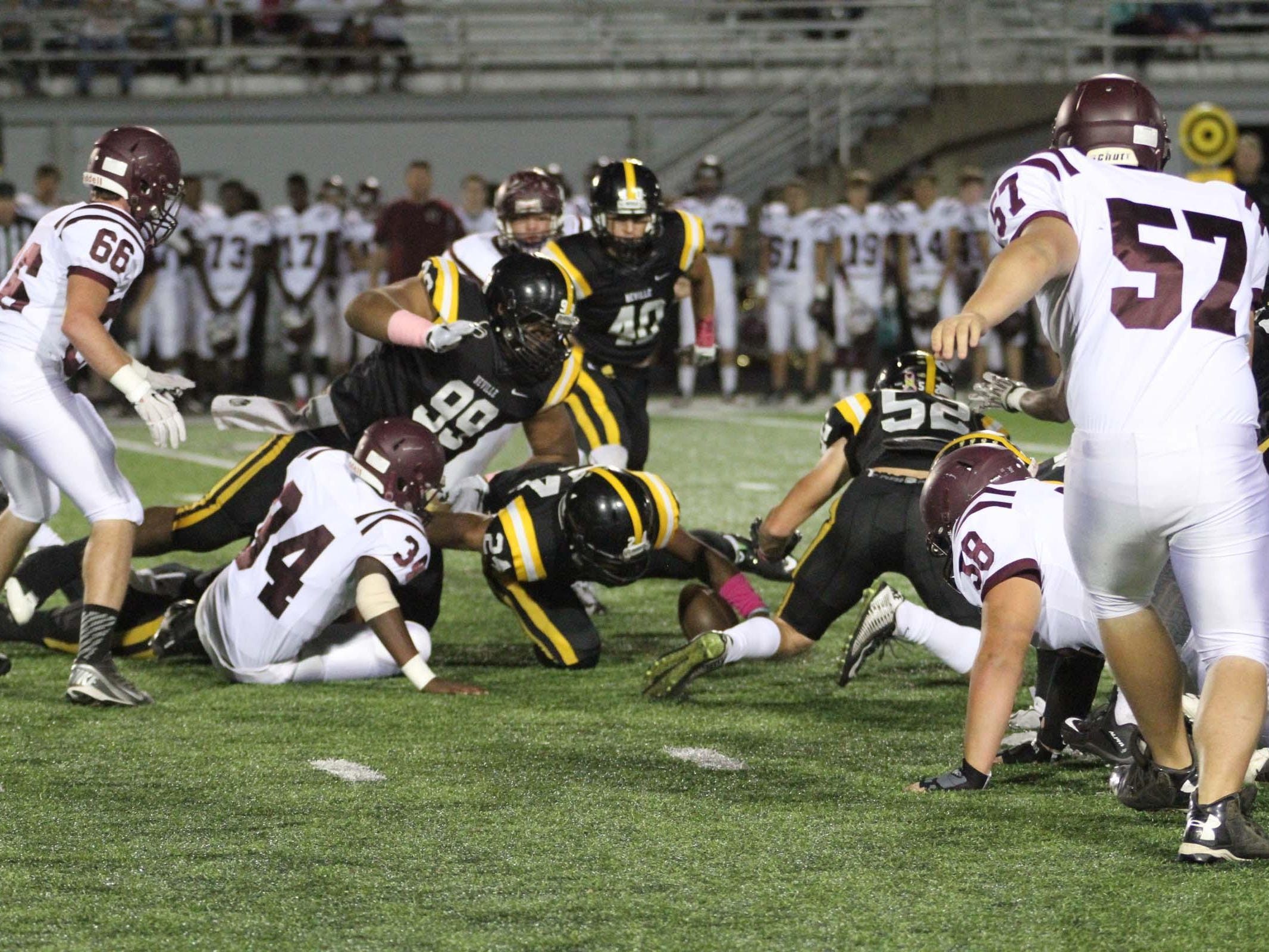 The Grant Cougars played the Neville Tigers Friday night in Monroe.