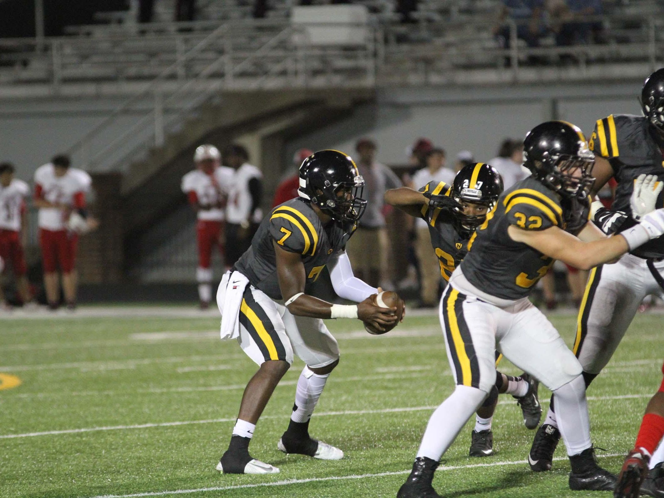 The Tioga Indians played the Neville Tigers Friday night in Monroe