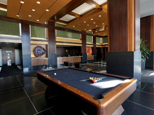 This condo has room for entertaining; the custom-made