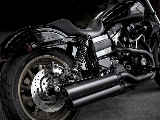 The 2016.5 Harley-Davidson FXDLS or Low Rider S. The Harley's Screamin' Eagle air-cooled twin cam 110 cubic inch engine on this model is said to make 115 pound feet of torque, which Harley says is 13% more torque than the standard Low Rider.
