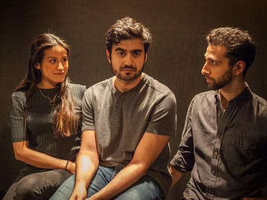 "From left, Alexandra Lemus, Fajer Kaisi and Jacob Heimer starred in ""Paloma"" at Kitchen Theater Company in May of 2016."