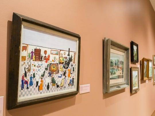 """Artwork on display at the """"Grandma Moses: American Modern"""" exhibit at the Shelburne Museum, which is on display through October."""