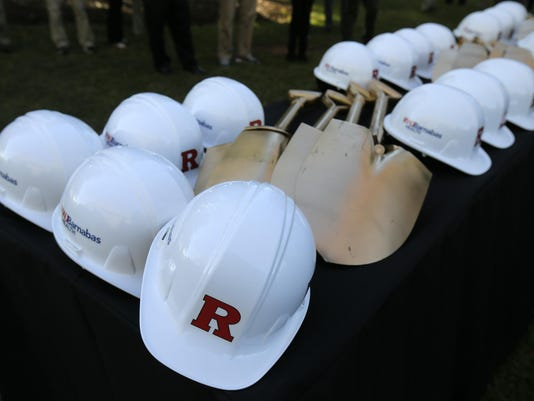 Rutgers multi-sport practice facility ground-breaking ceremony Presto ID 92885704