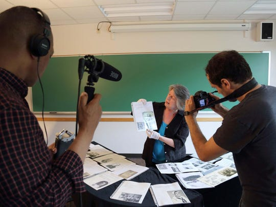 Historian Mary Ann Fitzgerald is filmed at Skidmore College in Saratoga Springs, N.Y., in 2015.