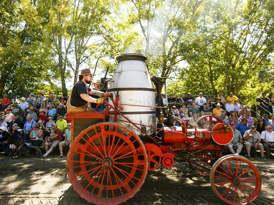 Learn about the early machinery that made Oregon develop and grow, including farm tractors, fire apparatus, vintage trucks and cars, logging gear, an early Oregon flour mill and an authentic steam sawmill, at The Great Oregon Steam-Up, July 29-30. Also catch rides on a historic trolley and a miniature railroad and a daily parade at 1:30 p.m. with vintage tractors, trucks and automobiles. It's all at Powerland Heritage Park in Brooks. $12 and free for ages 12 and younger.