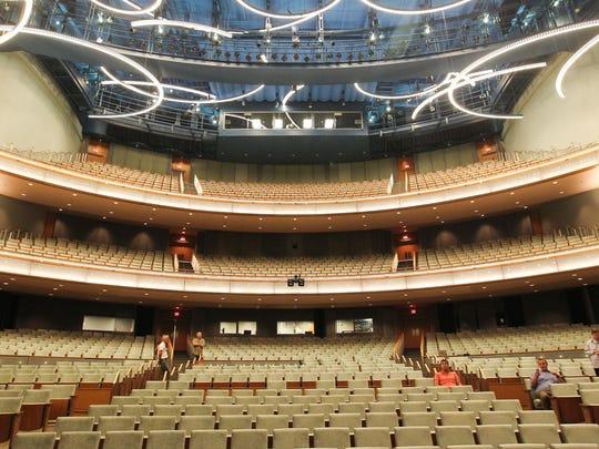 Inside Hancher Auditorium. David Scrivner/Iowa City Press-Citizen