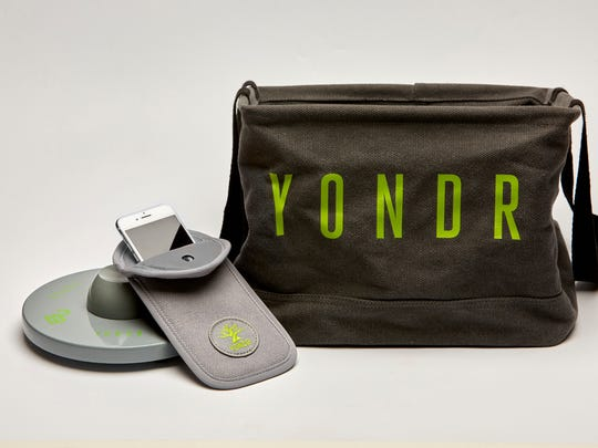 The Yondr pouch locks users' phones during certain events while still allowing them to keep their phones in their pocket or purse. The case unlocks by tapping it onto a base outside the venue, and is then dropped into a bag to be shipped back for cleaning and maintenance.