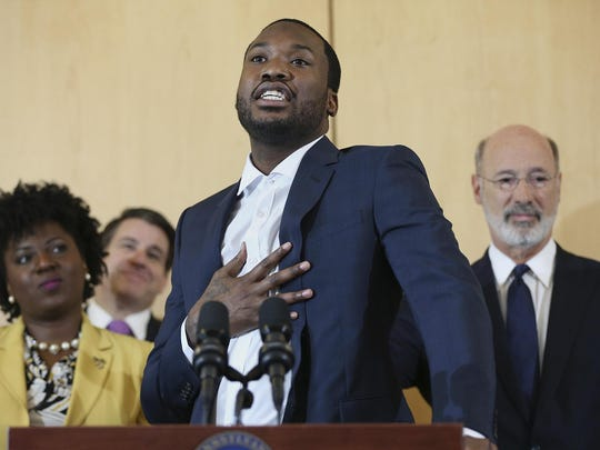 Rapper Meek Mill promoted Gov. Tom Wolf's proposals