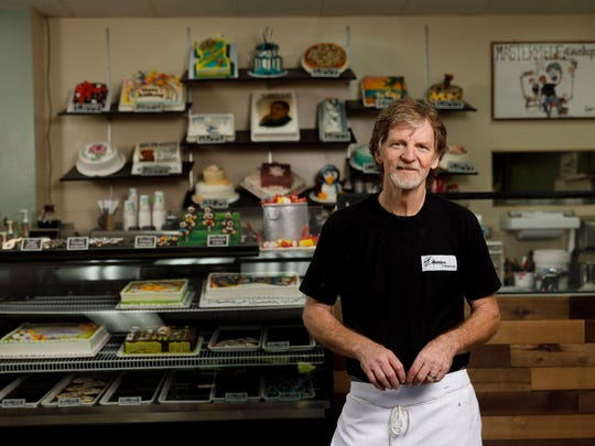 Jack Phillips, owner of Masterpiece Cakeshop in Lakewood, Colo., poses for a portrait on Sept.  21, 2017. Phillips refused to bake a cake for a same-sex couple in 2012, and is now awaiting a U.S. Supreme Court ruling after the Colorado Civil Rights Commission's ruling that he bake cakes for same-sex couples or not bake wedding cakes altogether.