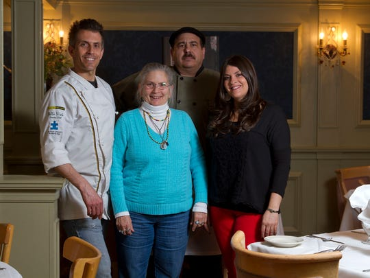 Giamano's in Bradley Beach has been family run since it opened in the 1980s. Shown are head chef Steffan Manno (from left), owner Rhonda Manno, head chef Peter Petagno, and manager Adriana Manno.