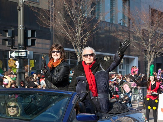 Art Van Elslander and Susan Goodell in the 2012 America's Thanksgiving Parade in Detroit.