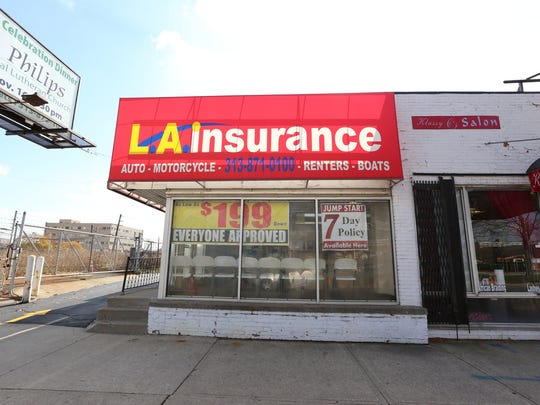 Because proof of insurance is required to register a vehicle in Michigan, there's high demand for short-term policies in Detroit. L.A. Insurance on West Grand Boulevard offers a seven-day policy for about $250.