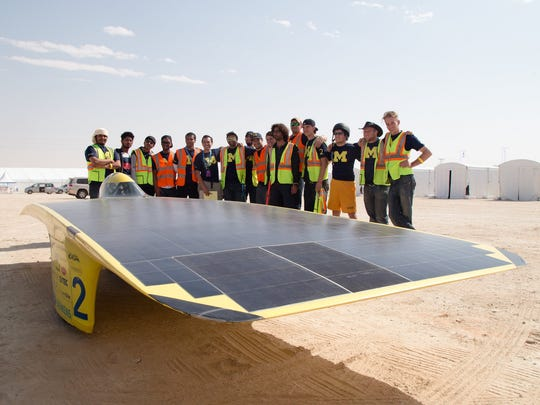 Students and alumni of the University of Michigan Solar